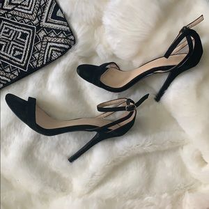 ASOS Shoes - NEW! Black Suede Stiletto Heels w/ Ankle Strap